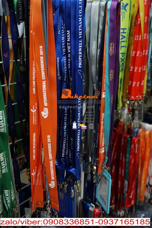 dây đeo thẻ đẹp đa kết nối ,dây đeo thẻ hội nghị event không in logo hay in nhiệt in lụa