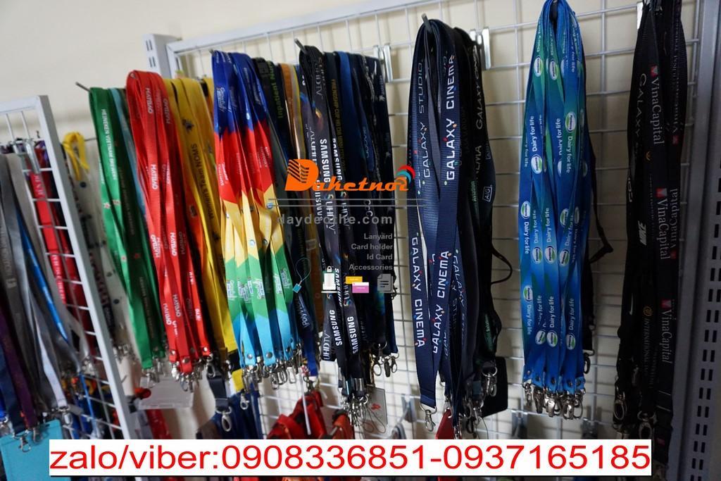 dây đeo thẻ hội thảo sự kiện event hội chợ size dây 1.5cm 2cm hay 1cm dùng trong các sự kiện cao cấp in lụa hay in nhiệt 2 mặt 2 đầu móc