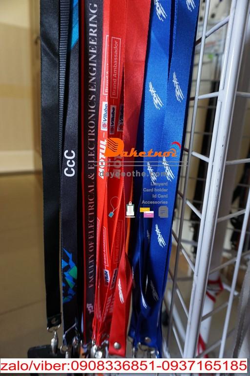 Dây đeo thẻ màu đỏ KTG ,LOTTE ,US CONSULATE, PSTC ,COLGATE