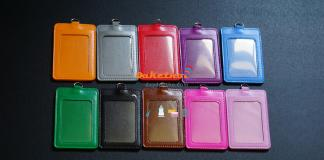 bao đeo thẻ da pu 2 túi đa sắc www.baodeothe.net bao đeo thẻ -bao đựng thẻ bao chứa thẻ nguyên bộ dây đeo thẻ