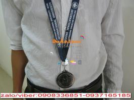 dây đeo thẻ huy chương 2cm 3cm in lụa 1 màu hay in nhiệt nhiều màu 2 mặt