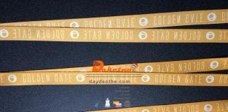 Dây đeo thẻ golden gate satanh in nhiệt màu vàng 1.5cm www.daketnoi.net Shop dây đeo chuyên bán buôn dây đeo thẻ , thẻ nhân viên , bao chứa thẻ và các dụng cụ đồ dùng có liên quan đến văn phòng phẩm , thời trang mới lạ độc đáo với thị trường Việt Nam.