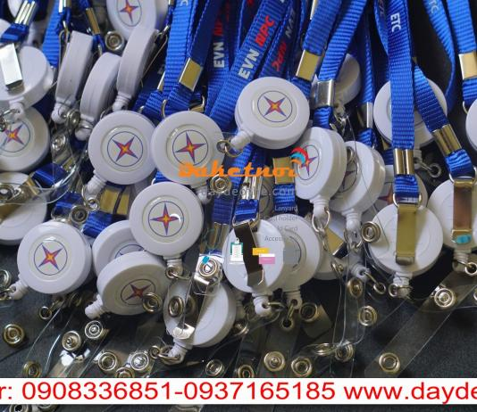 dây đeo thẻ EVN nguyên bộ -dây nylon in cao su yoyo co rút