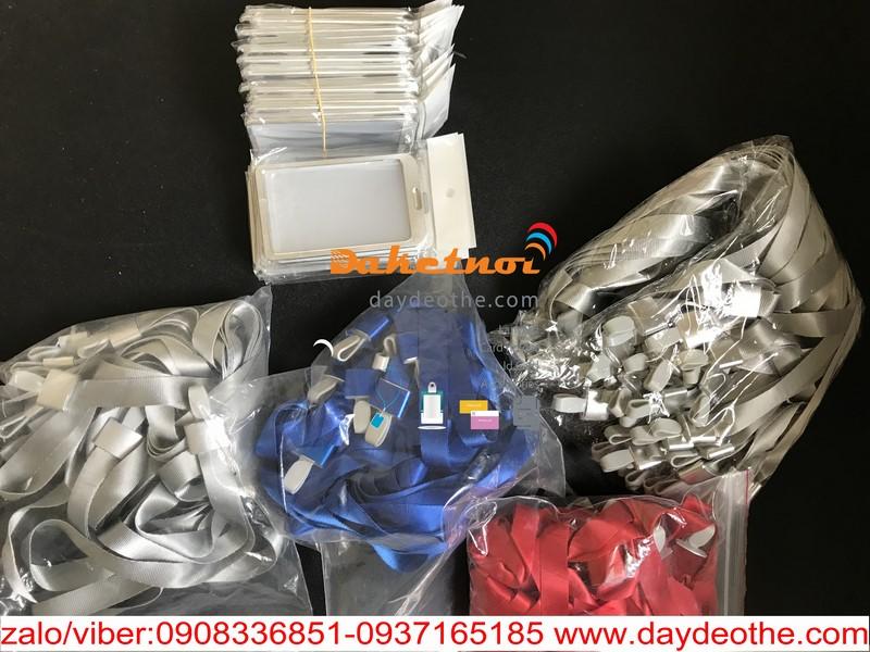 dây đeo thẻ trơn móc nhựa