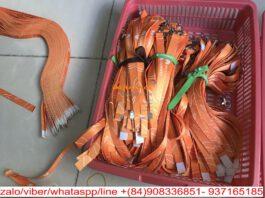 dây đeo thẻ huawei màu cam in chuyển nhiệt
