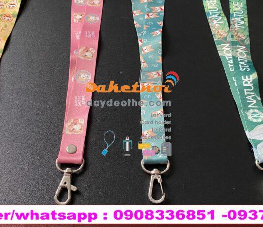 dây móc khóa- dây đeo điện thoại thú cưng chất liệu satanh in chuyển nhiệt Size dây 1.5cm /2cm x90cm